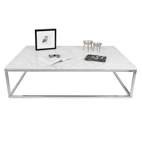 white and chrome desk prairie wht chrome marble coffee table by temahome eurway