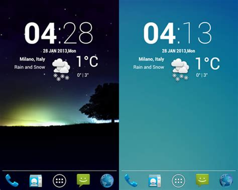 cool android widgets 20 beautiful weather widgets for your android home screens hongkiat