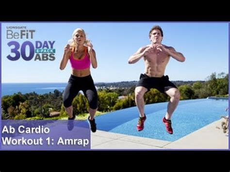 ab cardio workout 1 amrap 30 day 6 pack abs
