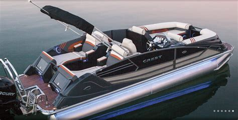crest pontoon boats crest pontoons boat covers