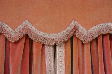 pink velvet drapes pair of pink velvet drapes with valance for sale at 1stdibs