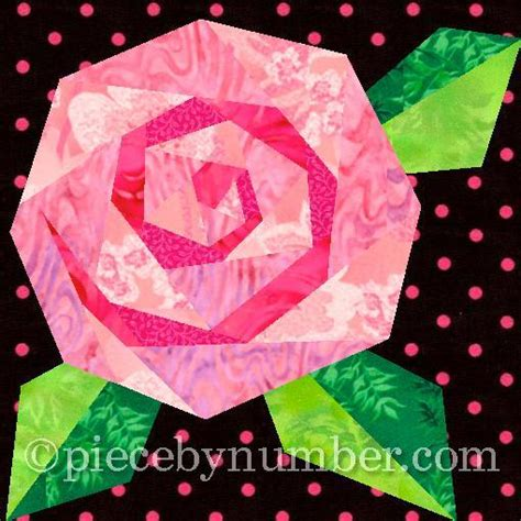 quilt pattern rose rosie s rose paper pieced quilt block by piecebynumber