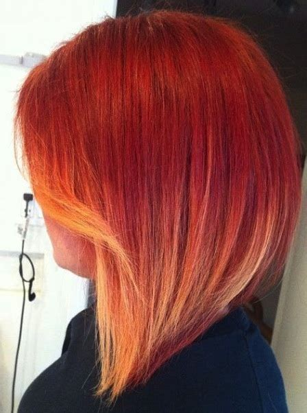 red hair with blonde ombre bob haircut 2016 trendy long bob hairstyles in ombre 2017 haircuts