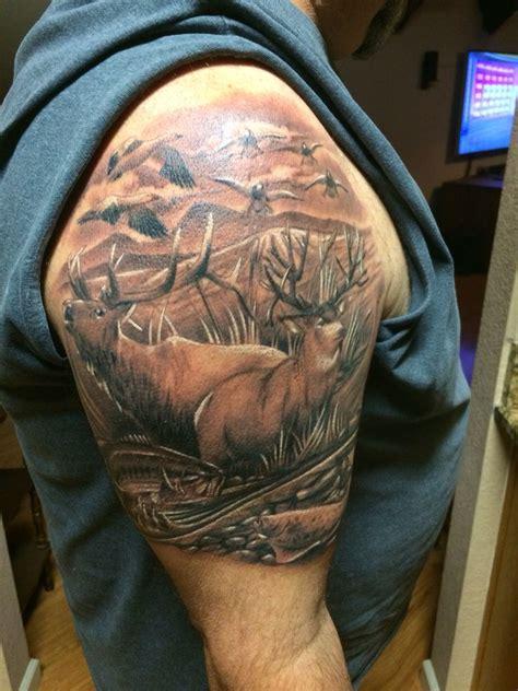 elk tattoo wildlife deer elk
