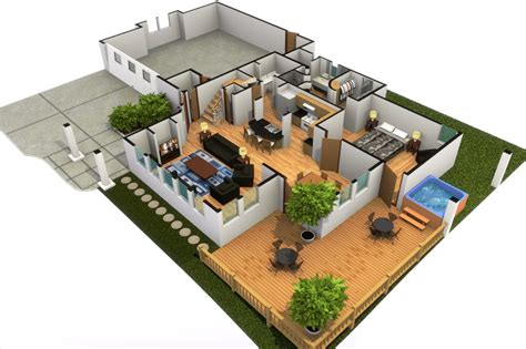 home design 3d para pc download artstation modern house with hot tub 3d floorplan
