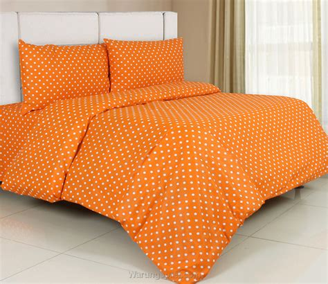 sprei panca dottie orange warungsprei