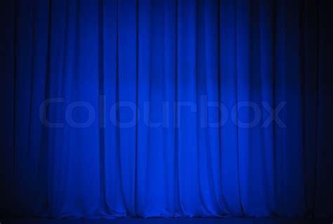 vorhang theater theater blauen vorhang stockfoto colourbox