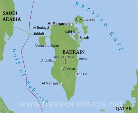 physical map of bahrain محافظات البحرين thinglink