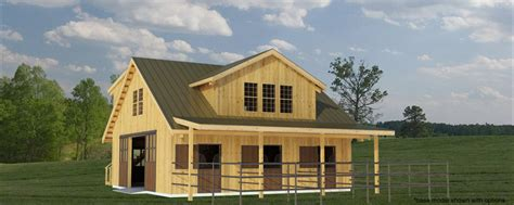 Horse Stall Floor Plans build a barn the westwood 4 stall horse barn plans for