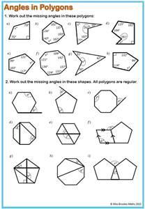 missing angles in polygons worksheet davezan