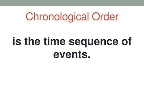 ppt sequence of events summarization lesson forten from now is your time powerpoint