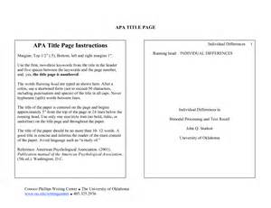 best photos of apa style title page title apa format