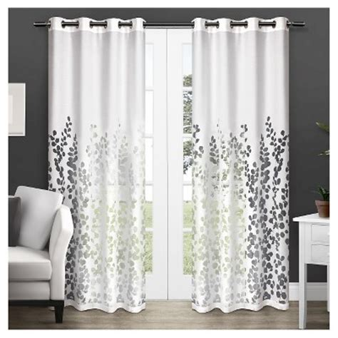 exclusive home curtains wilshire sheer window curtain panel pair white exclusive