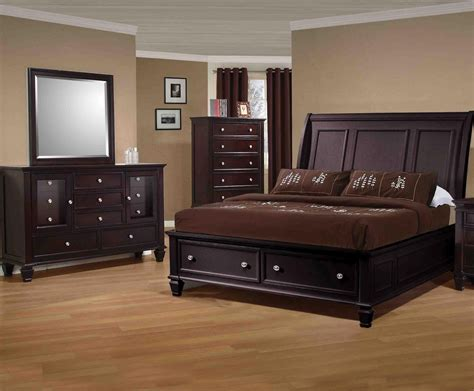 sandy beach bedroom set sandy beach cappuccino sleigh bedroom set from coaster