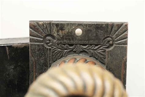 And The Beast Door Knob For Sale by Antique Corbin Fanciful Beast Bronze Knob Lock Set