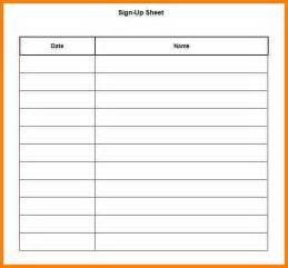 Email Sign Up Sheet Template by 2 Email Signup Template Bid Template