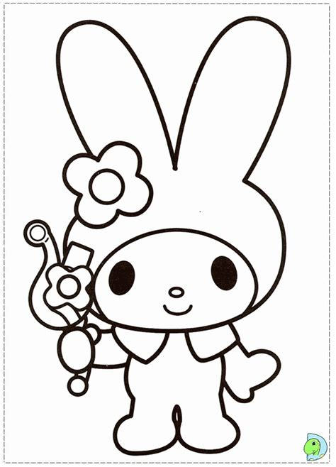 my melody coloring pages my melody coloring page coloring home