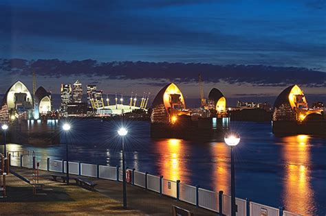 thames barrier centre over saturated cartoonish rubbish imaginary visions