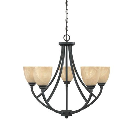 Chandelier Home Depot Designers Manhattan 5 Light Burnished Bronze Hanging Chandelier 82985 Bnb The Home Depot