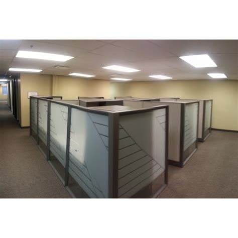 knoll grey office systems furniture desks cubicles pods