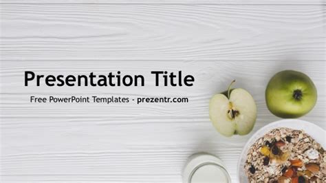 Healthy Food Powerpoint Template Prezentr Food Powerpoint Templates Free