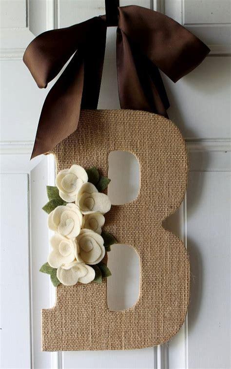 burlap craft projects best 25 monogram door hangers ideas on door