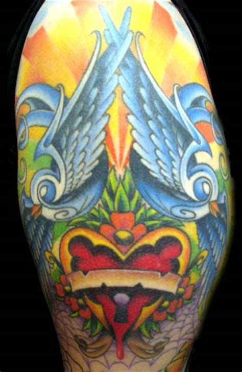 new school tattoo half sleeve large image leave comment