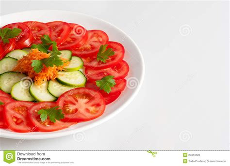 Images For Salad Decoration Beautifully Decorated Fresh Vegetable Salad Royalty Free
