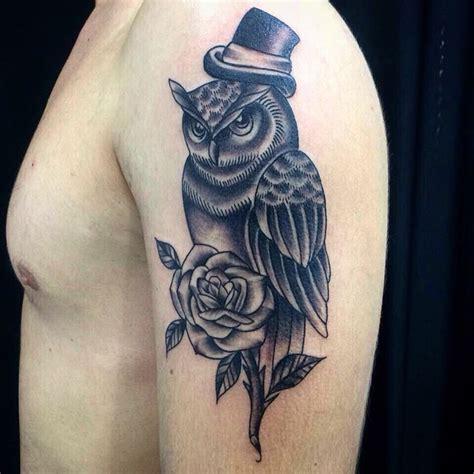 owl and rose tattoos 28 owl designs ideas design trends premium