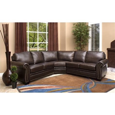 abbyson living sectional sofa abbyson living arizona 3 piece leather sectional sofa in