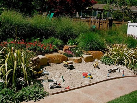 backyard sandpit sand box with climbing wall jpg