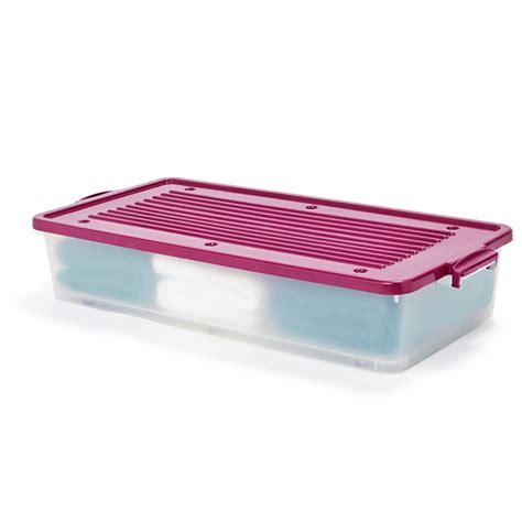 under bed storage container 36l underbed storage container on wheels kmart