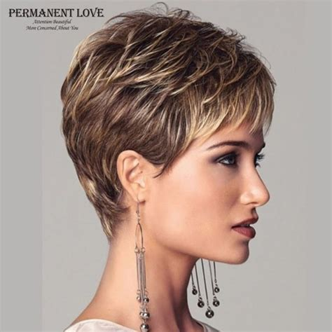 cost of a womens haircut and color in paris france womens synthetic short wigs pixie cut hairstyle blonde
