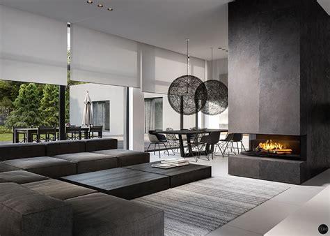 black  white interiors  ooze class erika living room designs home decor living room modern