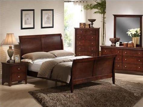 dark finish queen sleigh bed crown mark 5 pc contemporary dark wood finish bryce
