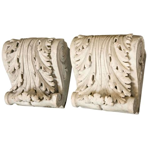Antique Corbels antique marble corbels brackets at 1stdibs