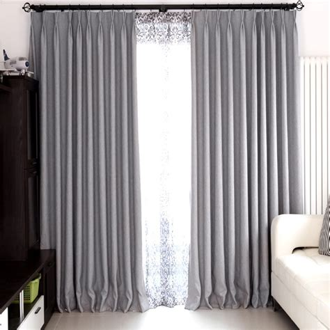 modern bedroom and living room gray blackout curtains