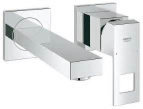 Designer Faucets Bathroom grohe eurocube 2 hole basin mixers size 19895 000
