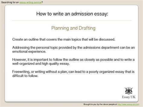 Admission Essay Writing Service by How To Write An Admission Essay Essay Writing Service