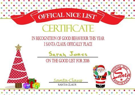 Christening certificate templates sample baptism certificate 19 personalised santa s nice list certificate design 5 yadclub Image collections