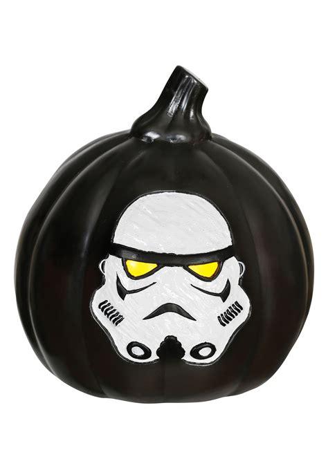 light up halloween star wars stormtrooper light up black pumpkin