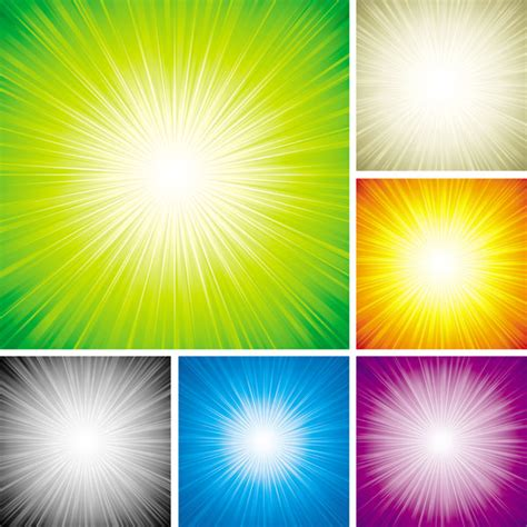 4 designer colorful light background vector material