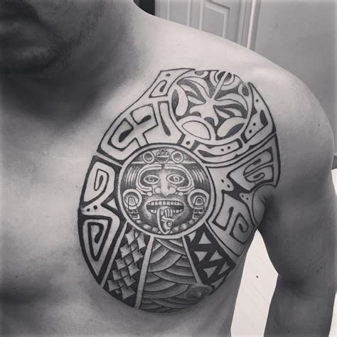 tribal tattoos on chest 24 aztec designs ideas design trends premium