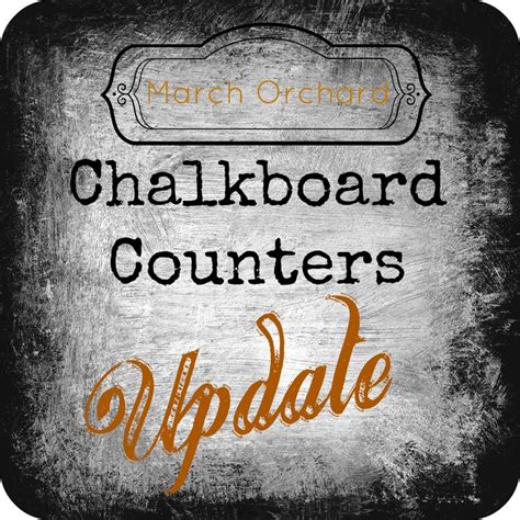 chalkboard paint countertops did you seal the counter tops after you painted them with