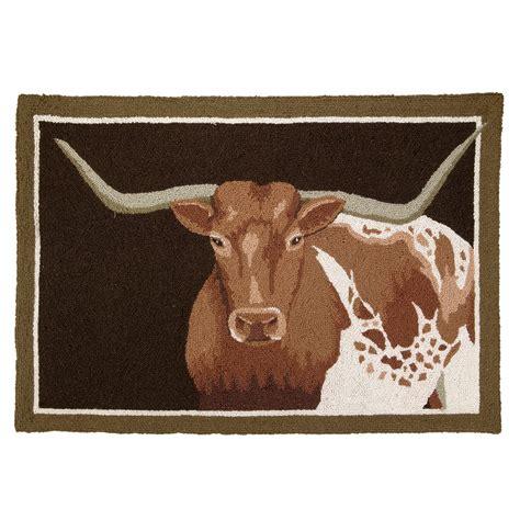 lone rug southwest rugs longhorn steer hooked rug lone western decor