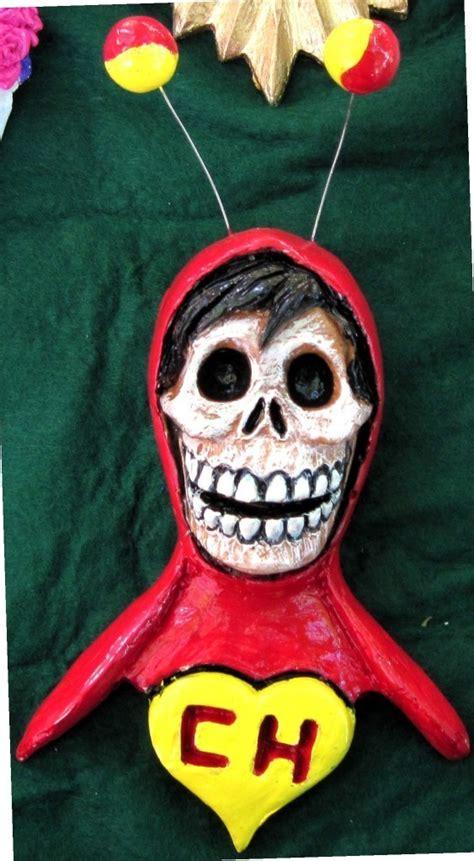 imagenes de calaveras vestidas del chavo diademuertos calavera chespirito imagen