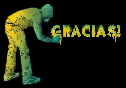 Imagenes De Graffitis Que Digan Gracias | gracias en un graffiti imagenes y carteles