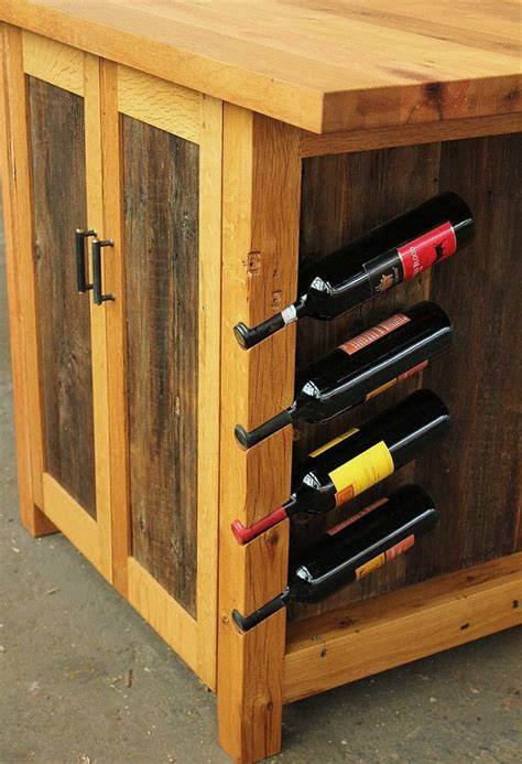 barnwood kitchen island barnwood kitchen island rustic workstation wine rack cabinet