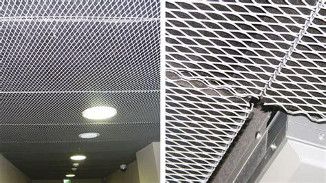 controsoffitti metallici soffitti in lamiera stirata e tele metalliche ceiling
