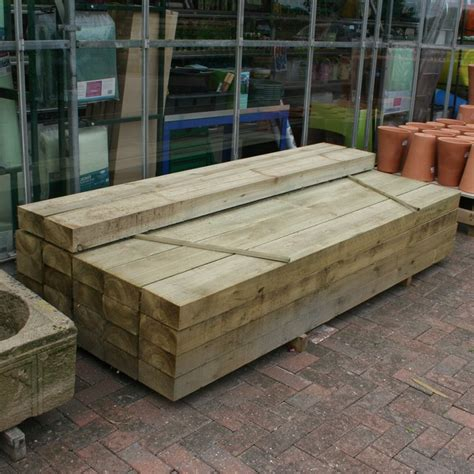 Treated Sleepers by New Pressure Treated Railway Sleepers 2 4m X 200mm X 100mm